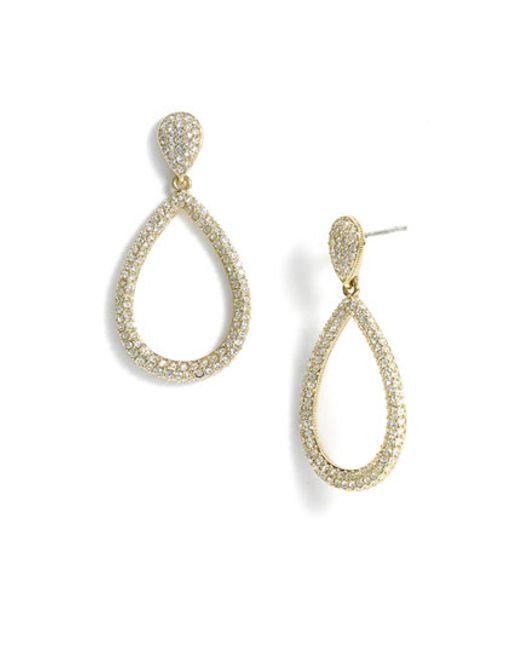 Nadri | Metallic Open Teardrop Earrings | Lyst
