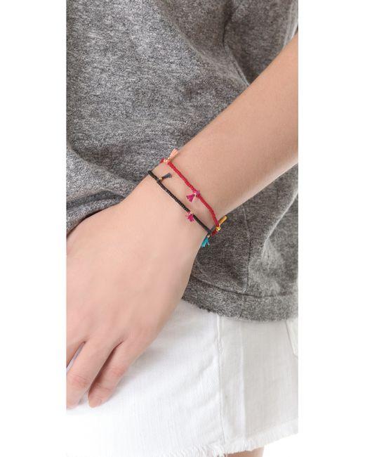 Shashi   Black Lilu Seed Bracelet   Lyst