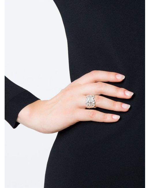 Natasha Collis | White Large Cobbled Ring | Lyst