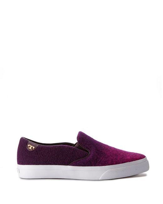 Tory Burch | Purple Stardust Slip-on Sneaker | Lyst