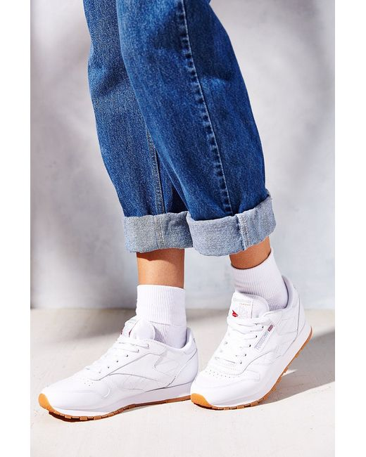 Reebok Classic Gum Sole Sneaker In White Lyst