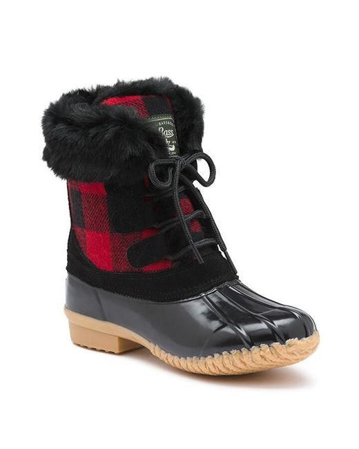 G H Bass Amp Co Northern Duck Boot In Red Red Plaid Lyst