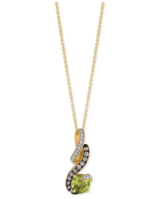 Le Vian | Metallic Chocolatier Peridot (3/4 Ct. T.w.) And Diamond (1/8 Ct. T.w.) Pendant Necklace In 14k Gold | Lyst