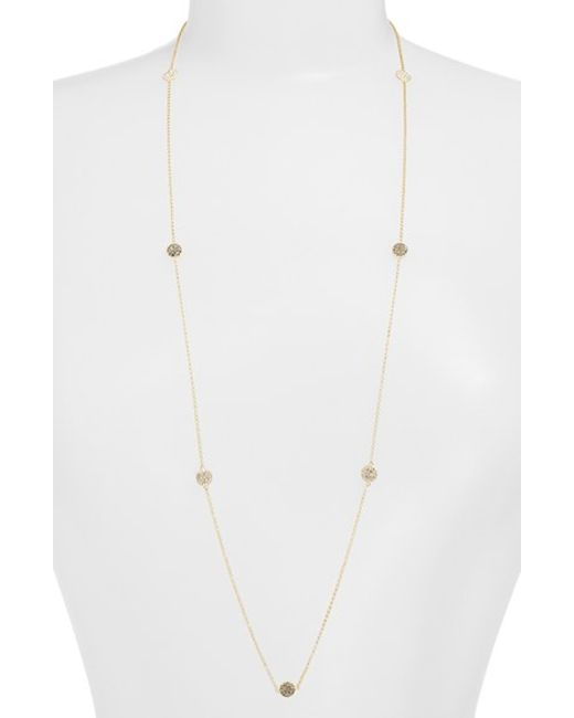 Judith Jack | Metallic Long Illusion Necklace | Lyst