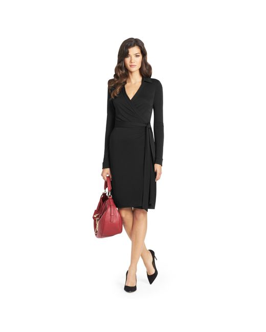 Diane von Furstenberg | Black Jeanne Jersey Wrap Dress | Lyst