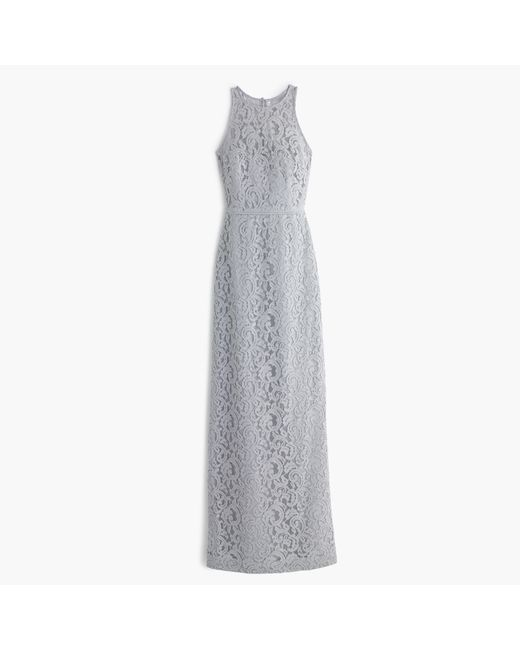 J.Crew | Gray Pamela Fitted Lace Gown | Lyst