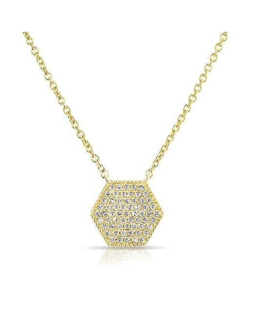 Anne Sisteron | Metallic 14kt Yellow Gold Diamond Honey Necklace | Lyst