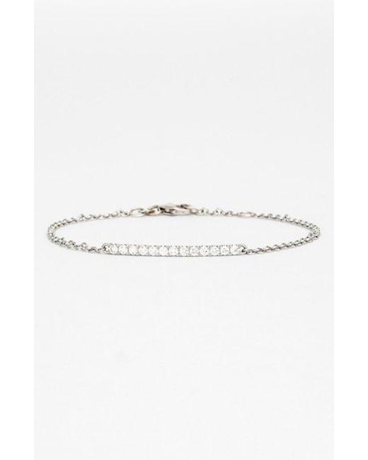 Bony Levy | White 'stick' Pave Diamond Bar Bracelet (nordstrom Exclusive) | Lyst