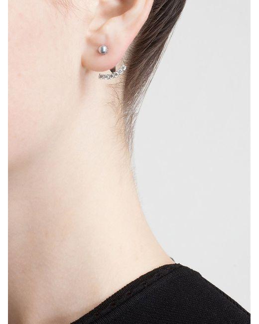 Yvonne Léon | Metallic Pearl Stud Earring | Lyst