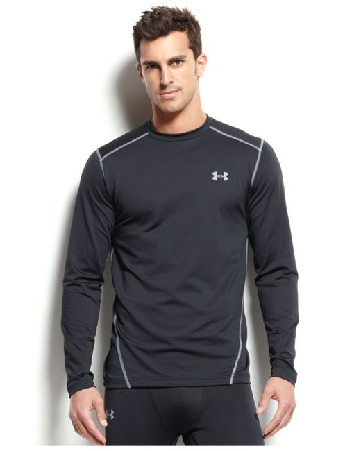 Under armour men 39 s cold gear long sleeve athletic crew for Under armour cold gear shirt mens