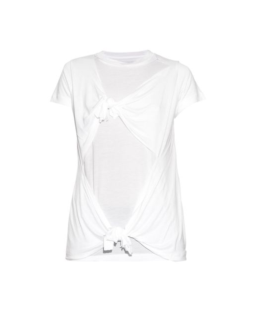 Marques'Almeida | White Slashed-knotted Short-sleeved T-shirt | Lyst