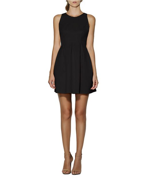 Cynthia Rowley | Black Pleated Fit-and-flare Dress | Lyst