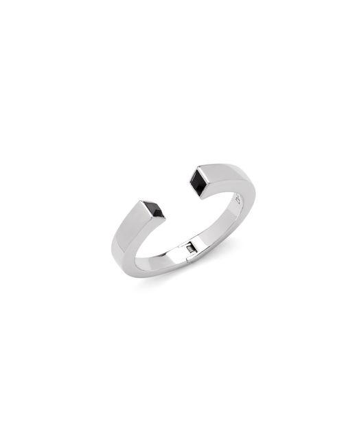 Diane von Furstenberg   Metallic Black Swarovski Geometric Stone Cuff Bracelet   Lyst