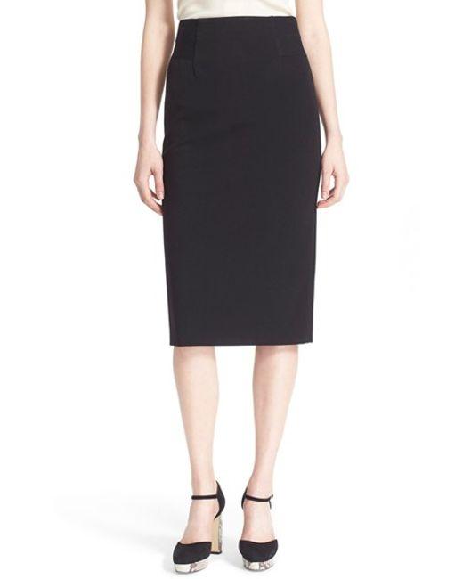 Diane von furstenberg 'geri' Knit Pencil Skirt in Black | Lyst