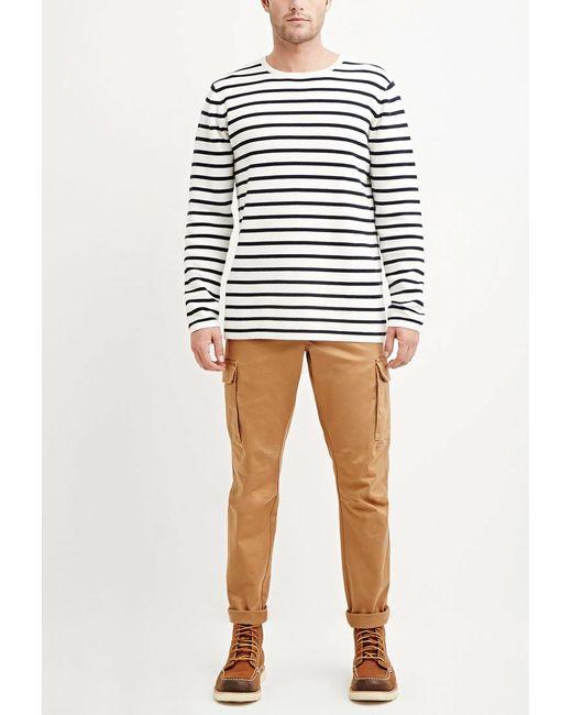 Forever 21   Natural Cotton-blend Cargo Pants for Men   Lyst
