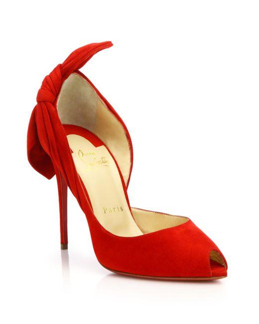Christian Louboutin | Red Women's Barbara Half D'orsay Pumps | Lyst