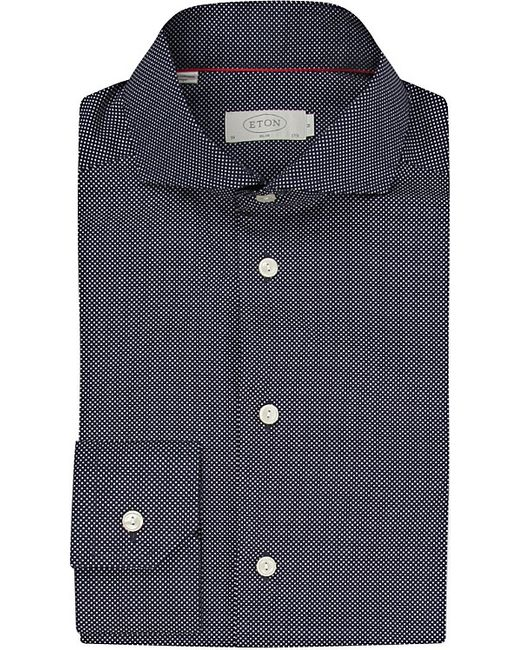Eton of Sweden | Blue Slim Fit Micro-dots Cotton Shirt for Men | Lyst