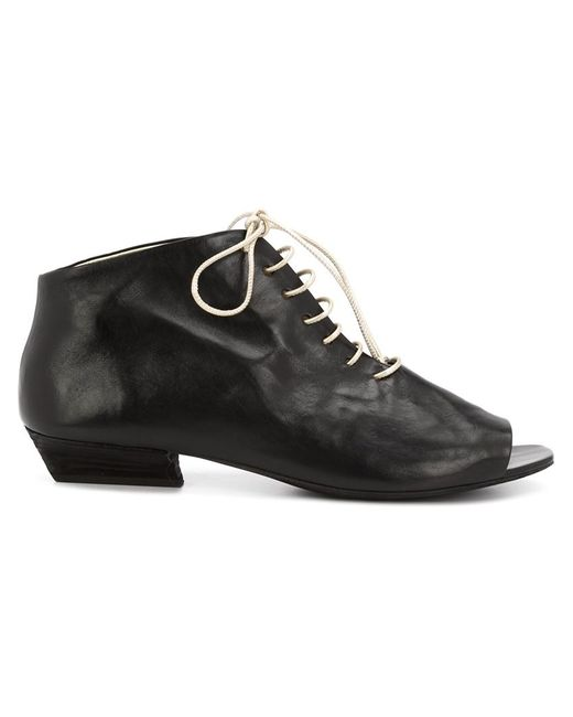 mars 232 ll open toe ankle boots in black lyst
