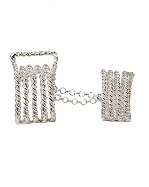 Bernard Delettrez | Metallic Articulated 7 Bands Silver Ring | Lyst