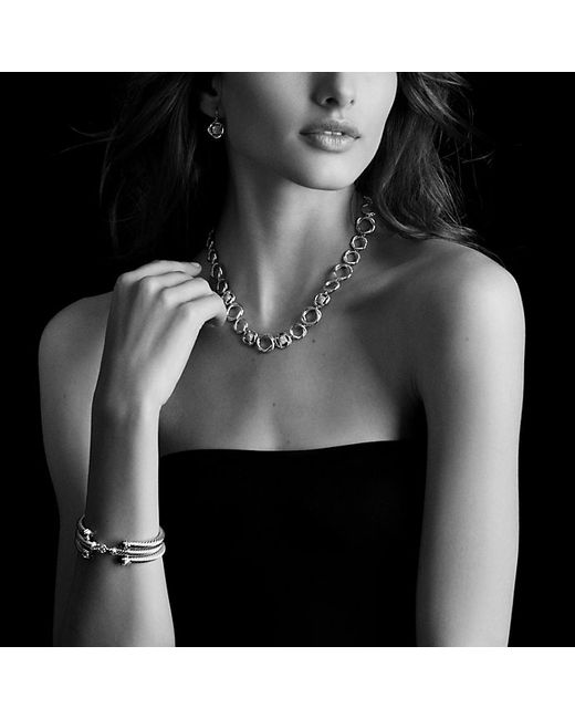 David Yurman | Metallic Cable Classics Bracelet With Diamonds In 18k Gold, 5mm | Lyst