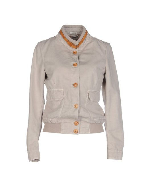 Cavalleria Toscana Jacket In Beige Dove Grey Save 50