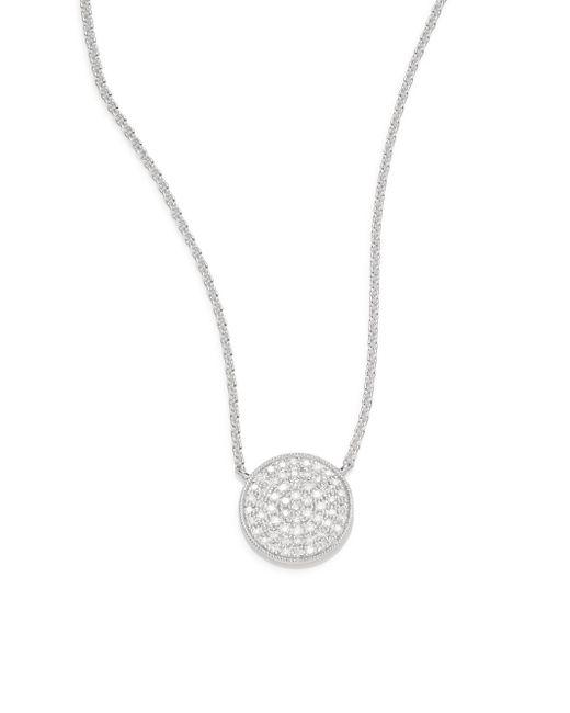 Saks Fifth Avenue | Metallic 0.18 Tcw Diamond & 14k White Gold Disc Necklace | Lyst