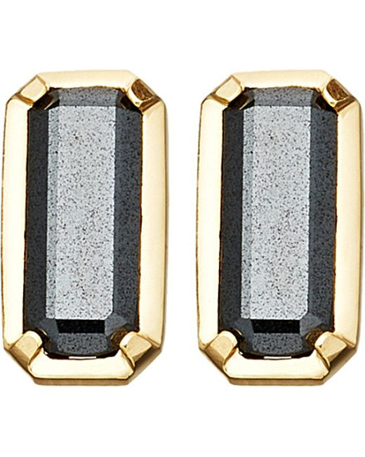 Astley Clarke | Metallic Prismic 18ct Yellow Gold-plated And Hematite Stud Earrings | Lyst