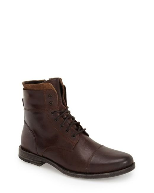 Kenneth Cole Reaction | Brown 'steer The Wheel' Lace-up Boot for Men | Lyst
