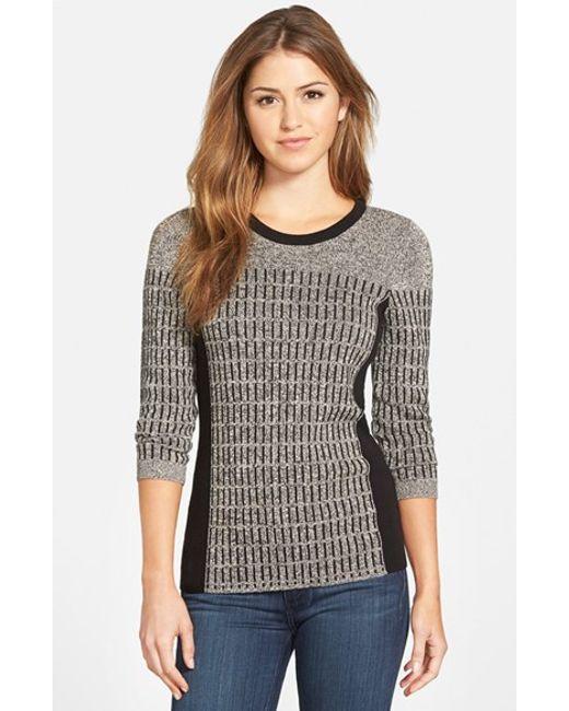 NIC+ZOE | Gray 'allegro' Crewneck Sweater | Lyst