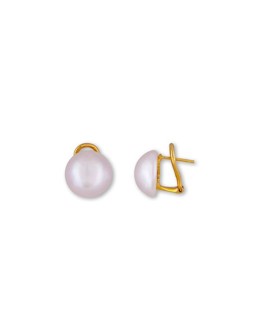 Majorica | Purple Simulated Pearl Stud Earrings | Lyst