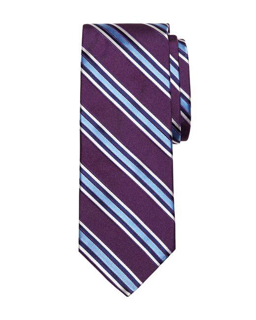 Brooks Brothers | Purple Satin Framed Stripe Tie for Men | Lyst