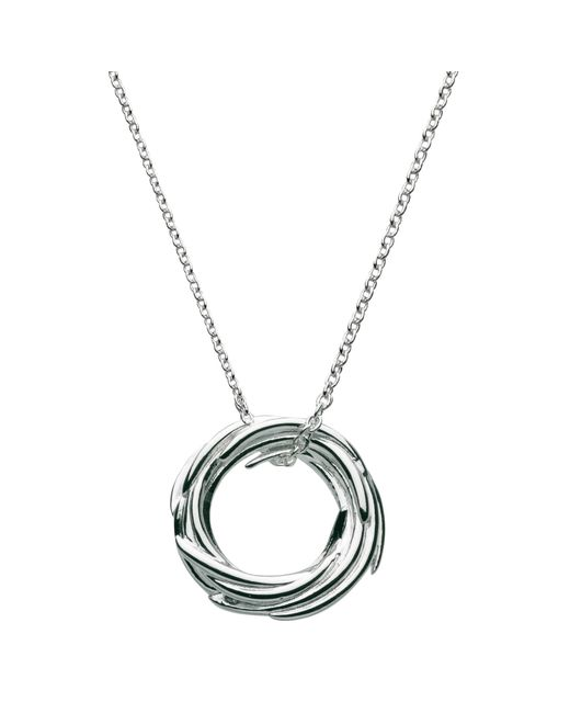 Kit Heath | Metallic Sterling Silver Nest Pendant Necklace | Lyst
