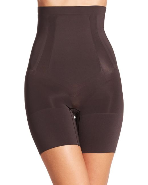 Spanx | Black Oncore High-waist Mid-thigh Shorts | Lyst