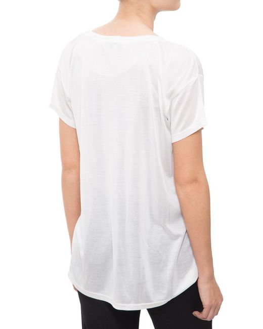 Helmut Lang Scoop Neck T Shirt In White Save 51 Lyst