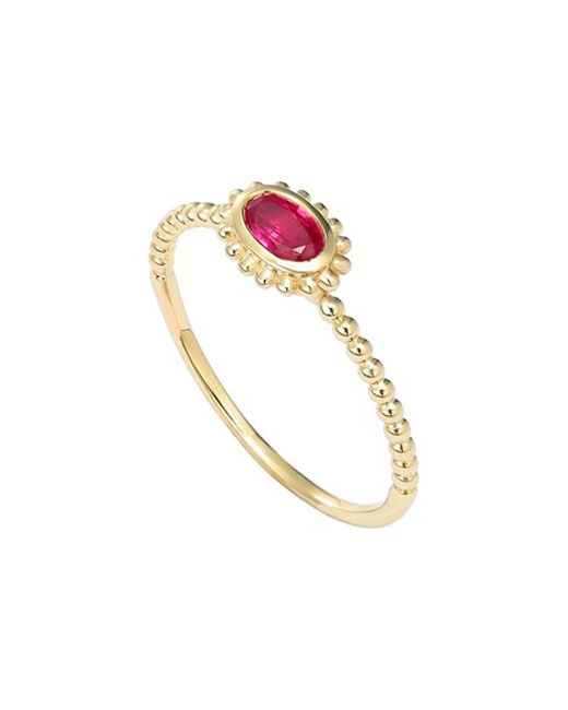 Lagos | Metallic 'covet' Oval Stone Caviar Stack Ring | Lyst