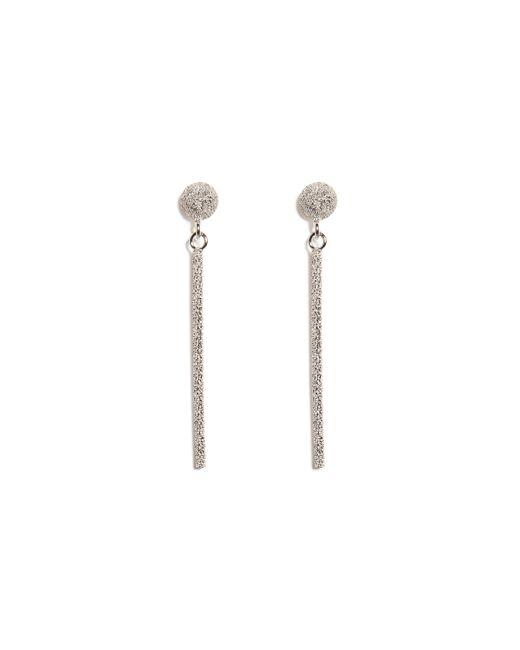 Carolina Bucci | Metallic 18k White Gold Mirador Sparkly Stud Drop Earrings | Lyst
