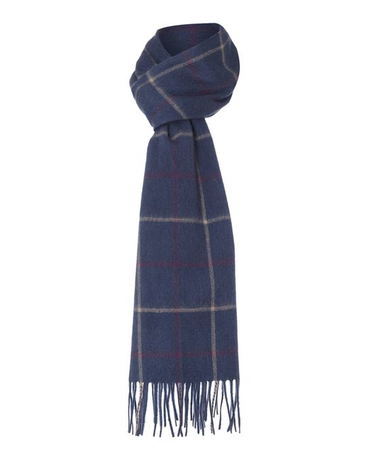 Barbour | Gray Tattersall Check Scarf for Men | Lyst