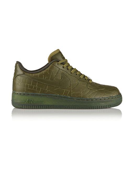 nike 39 air force 1 39 sneakers in green lyst