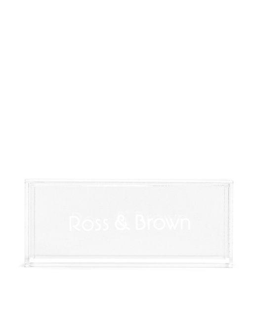 Ross & BrownWomen's Black 'shanghai Ii' Leather Tip Mirror Sunglasses