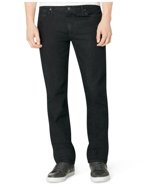 calvin klein jeans men 39 s slim straight fit jeans in black. Black Bedroom Furniture Sets. Home Design Ideas