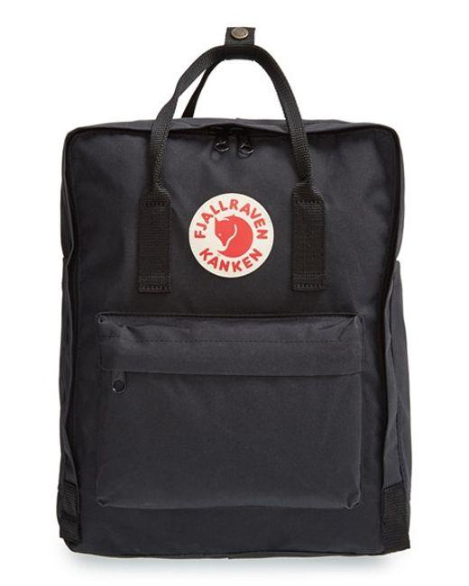 Fjallraven 'kanken' Water Resistant Backpack in Black