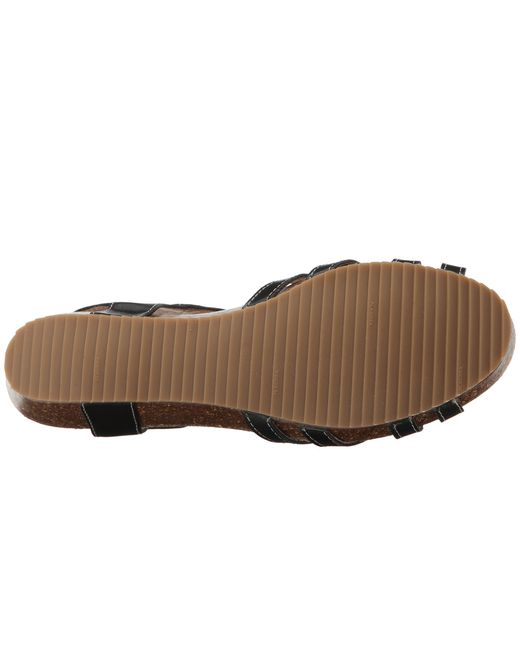 Pikolinos   Black Rennes Leather Sandal   Lyst