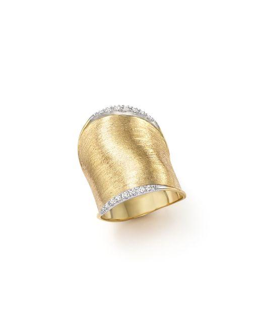 Marco Bicego | Metallic Diamond Lunaria Large Ring In 18k Yellow Gold | Lyst