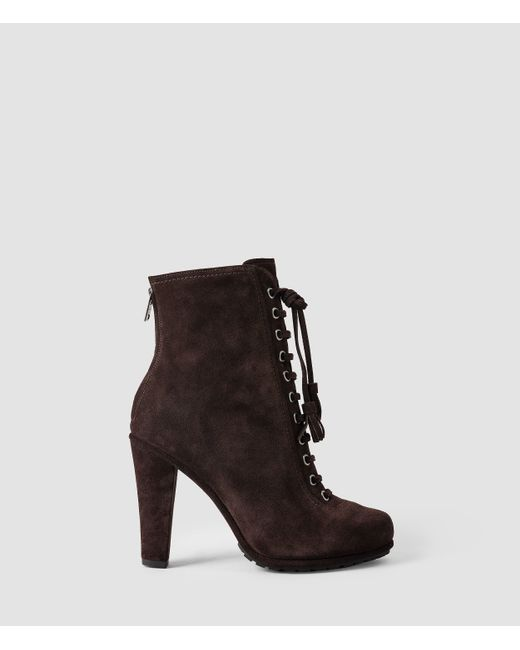 AllSaints | Brown Grimsby Boot | Lyst