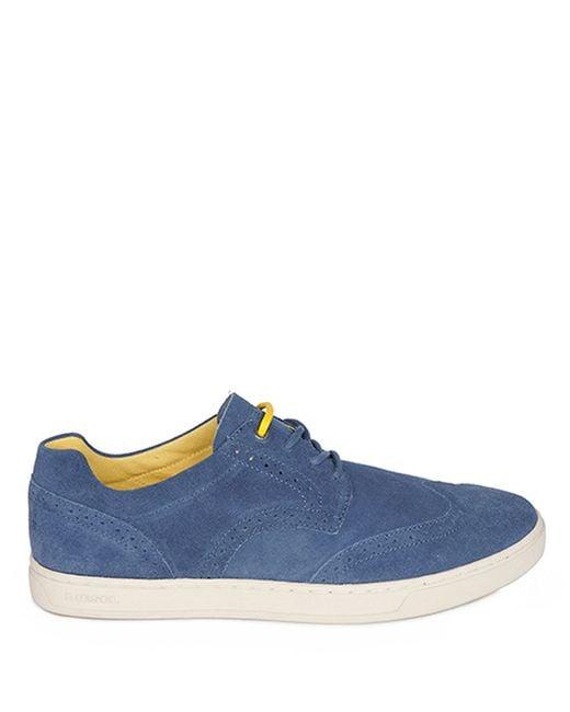 DIESEL | Blue Primetivers Leather Wingtip Sneakers for Men | Lyst