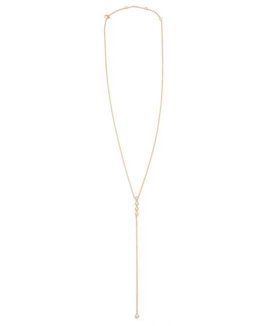 EF Collection | Metallic Diamond 5 Bezel Lariat Necklace | Lyst