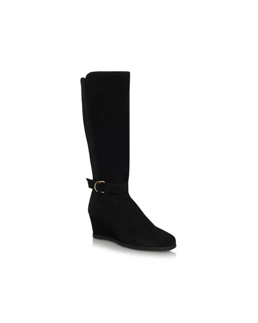 Carvela Kurt Geiger | Black Violet Mid Wedge Heel Knee High Boots | Lyst