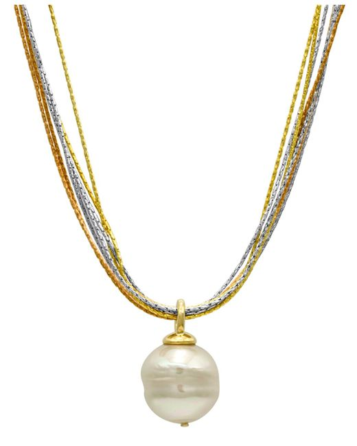 Majorica | Metallic Organic Man-made Baroque Pearl | Lyst