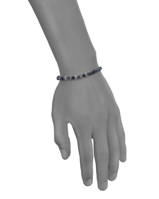 King Baby Studio | Metallic Snowflake Agate & Sterling Silver Bracelet for Men | Lyst