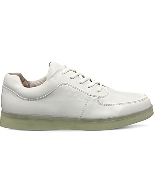 Irregular Choice | White State Of Flux Light-up Leather Trainers for Men | Lyst